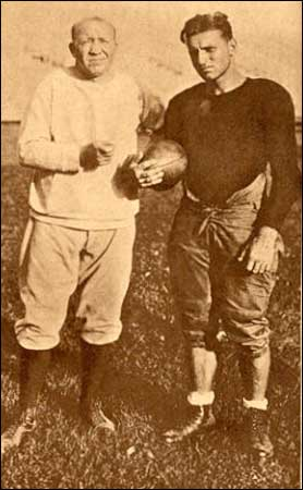 "Rock with John ""Clipper"" Smith, captain and All-American with the 1927 team."
