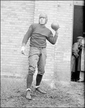 "Larry ""Moon"" Mullins strikes a pose before the 1927 season"