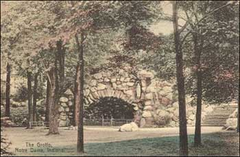 Early vintage postcard of the Grotto.